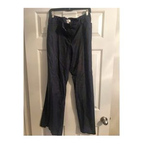 Ann Taylor Loft Julie Denim Trousers Size 14